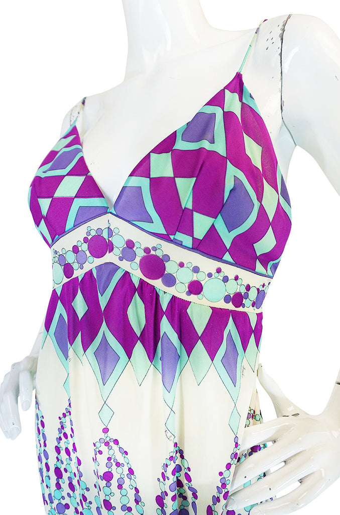 1960s Geometric Print Emilio Pucci for Formfit Rogers