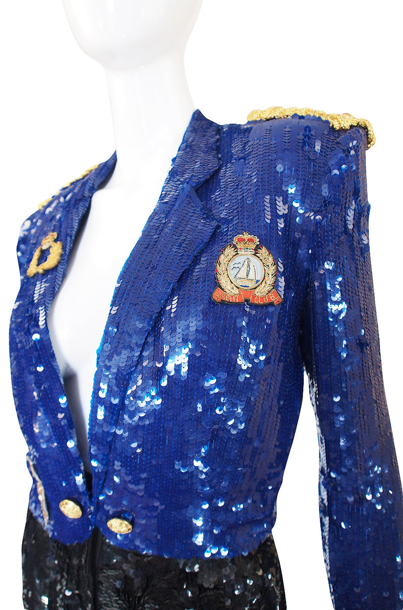 1980s Sequin High Pant & Crop Jacket