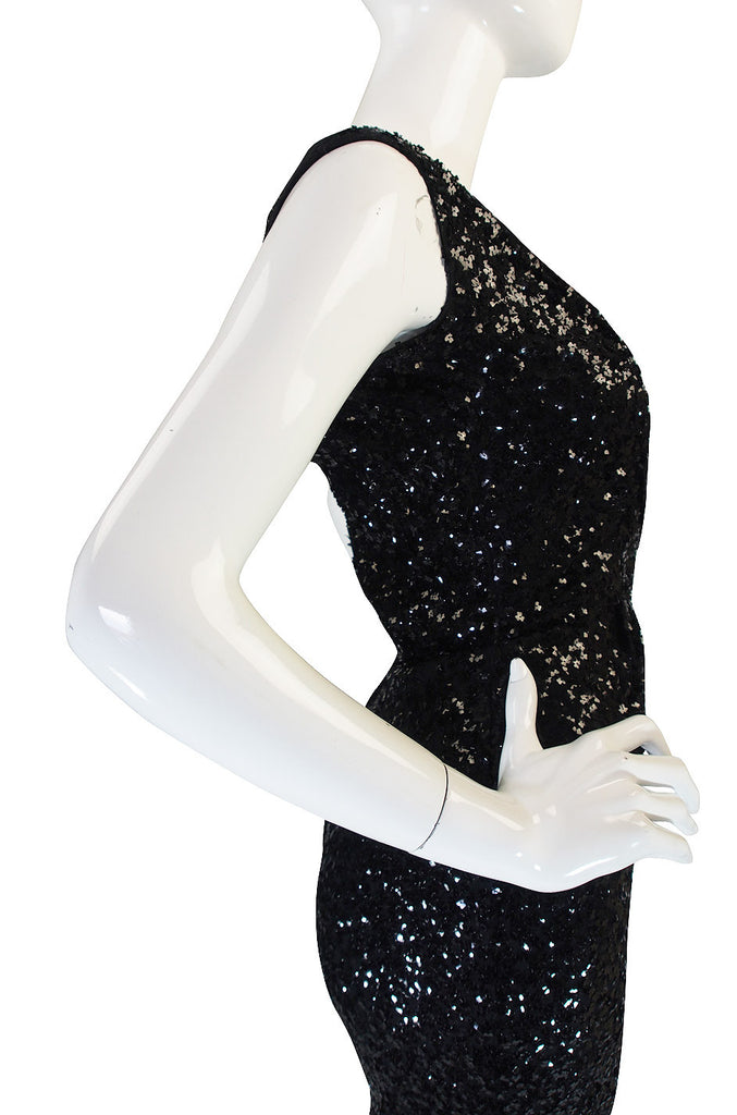 1950s Fine Sequin Ceil Chapman Wiggle Dress