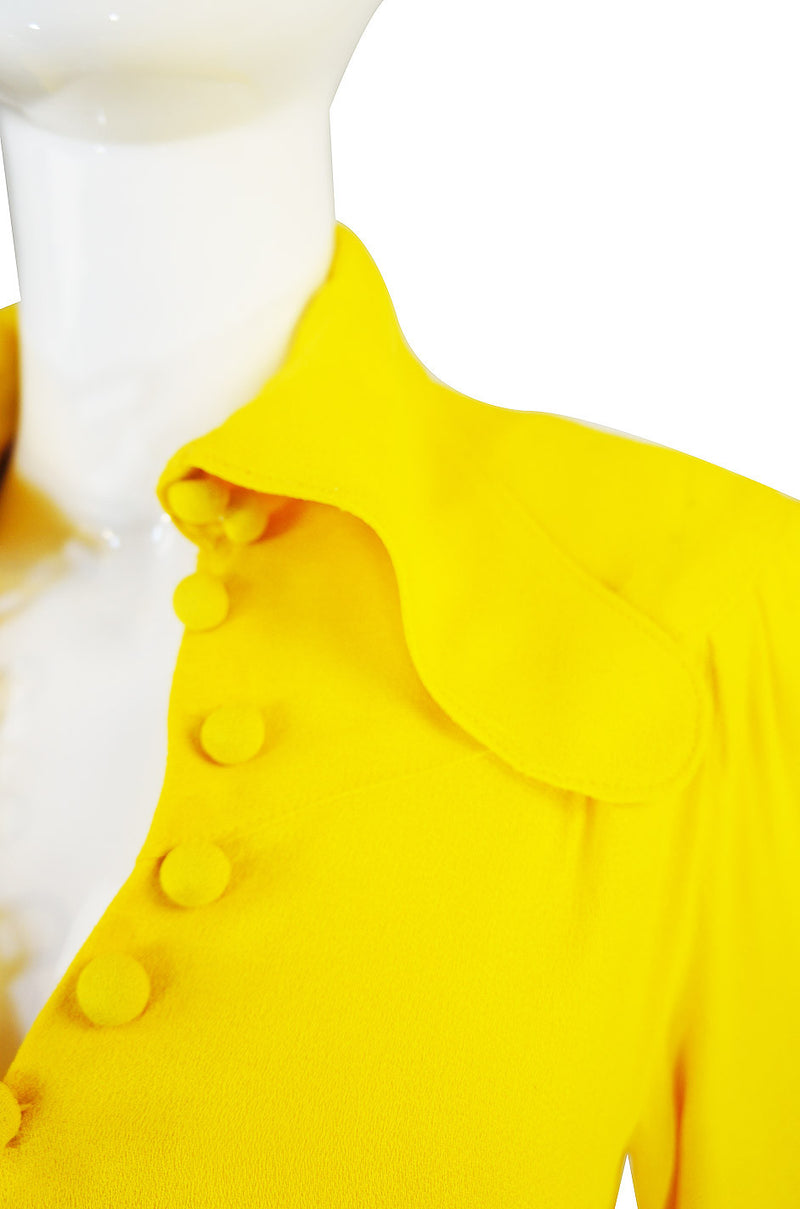 1960s Yellow Ossie Clark Maxi Dress