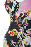 1990s Beaded Silk Ungaro Maxi Dress