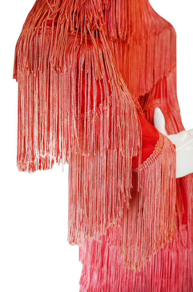 Now On Sale - 1970s OMO Norma Kamali Fringed Suit