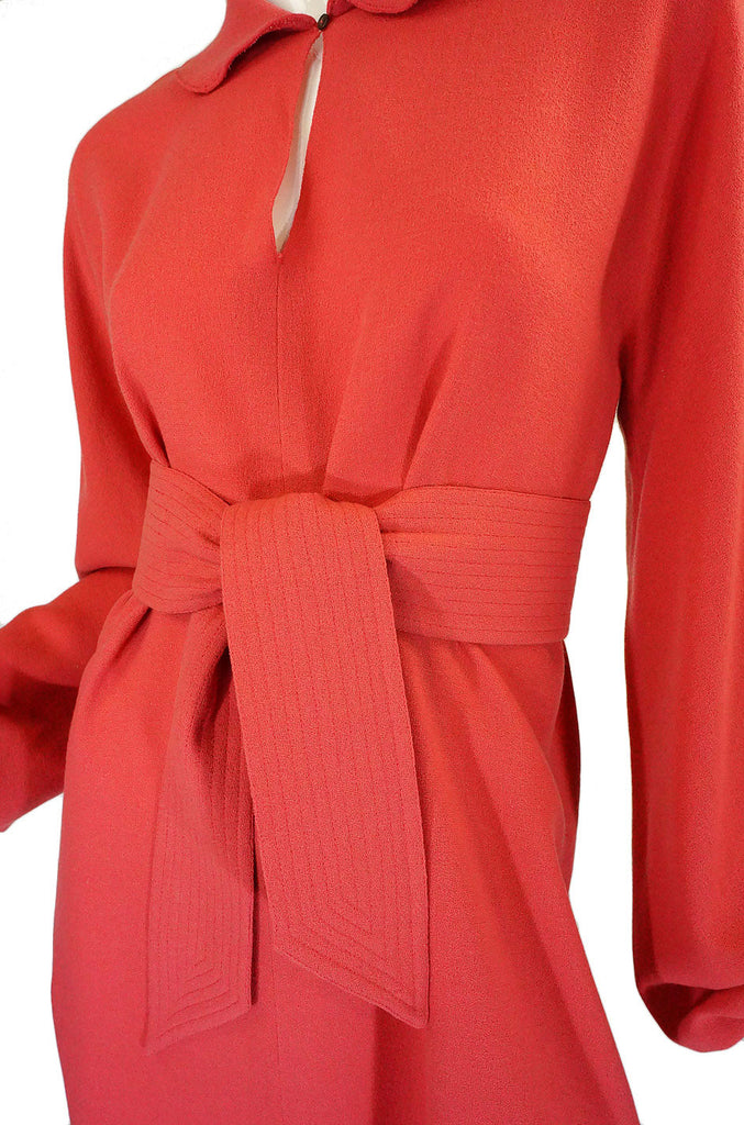 1970s Rare Wool Crepe Chloe Day Dress