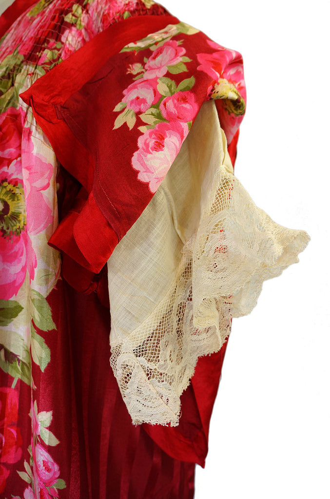 Victorian Printed Silk Boudoir Wrapper