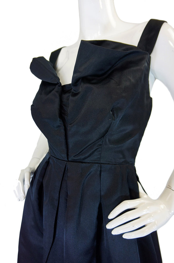 Now On Sale - 1950s Marshall Field & Co Silk Satin Dress