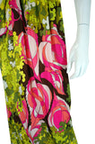 1970s Emilio Pucci Pink Pop Maxi Dress