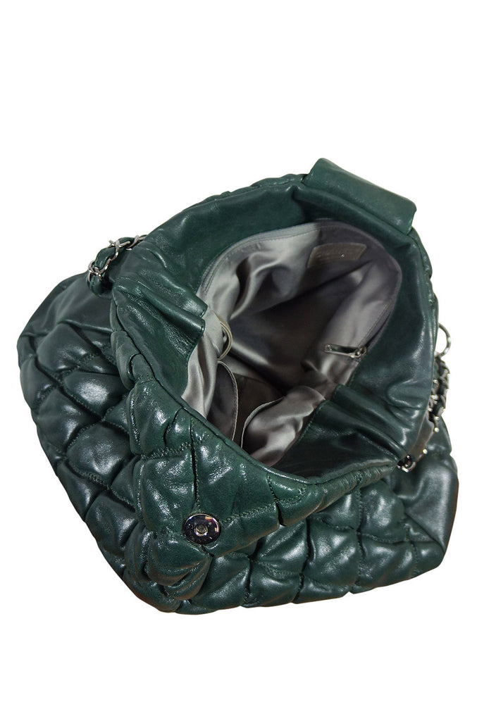 2008 Deep Green Quilted Chanel Bag