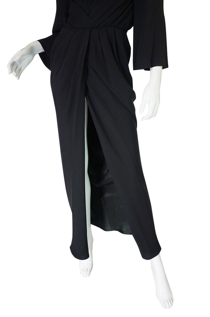 1990s Sleek Gianfranco Ferre Silk Gown