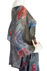 1970s Rare Metallic Missoni Caftan Gown