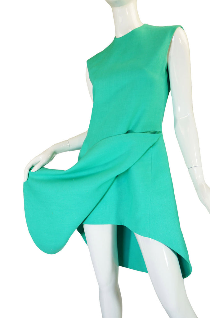 1960s Turquoise Couture Beene Dress