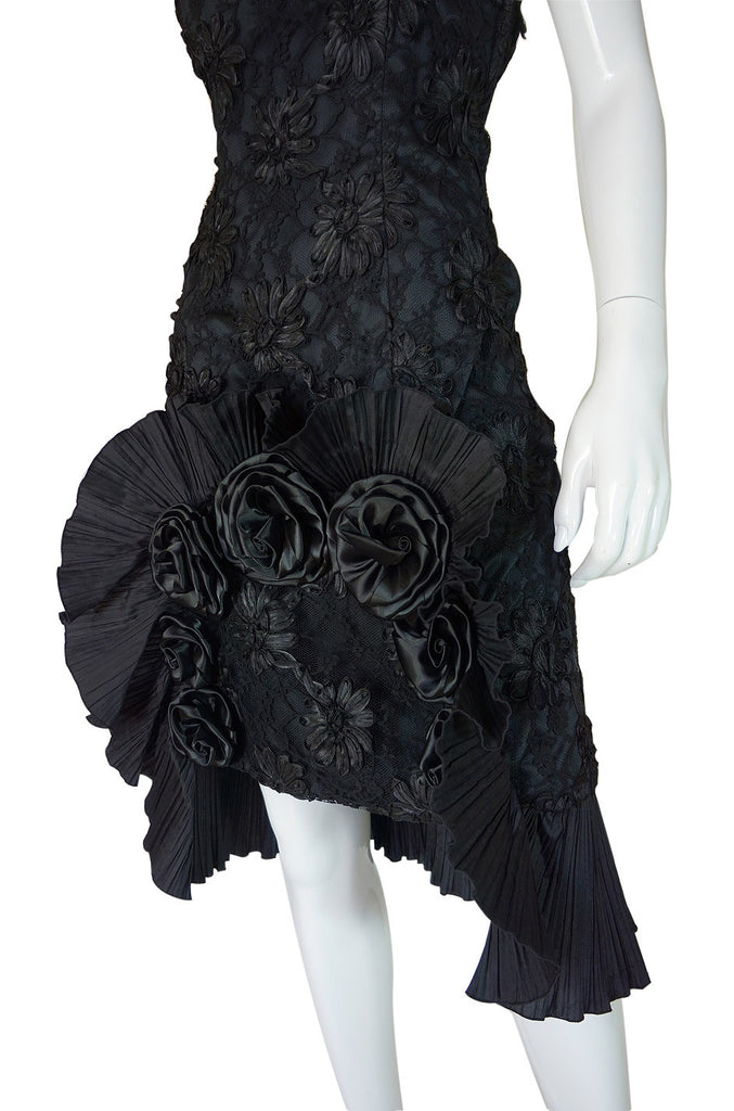 Rare 1970s Carven Lace Strapless Dress