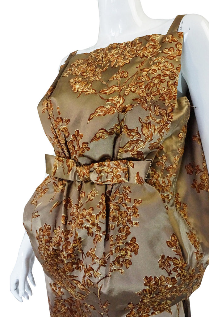 1950s Couture Italian Silk Sack Dress