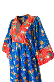1960s Young Innocents by Arpeja Cotton Floral Print Caftan Dress