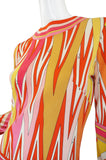 1970s Amazing Pucci Citrus Maxi Dress