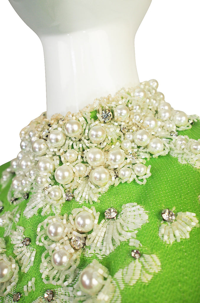 1960s Bead & Pearl Encrusted George Halley Gown