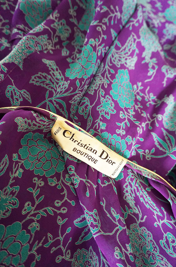 Documented 1976 Christian Dior Print Skirt & Jacket Set