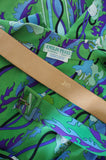 1960s Green Silk Print Emilio Pucci Dress