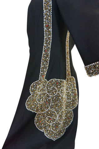 1960s Trompe L'oeil Beaded Bag Dress & Matching Coat