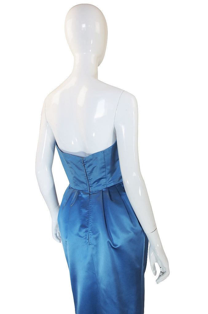 "1950s Pale Blue Silk ""Grace Kelly"" Gown"