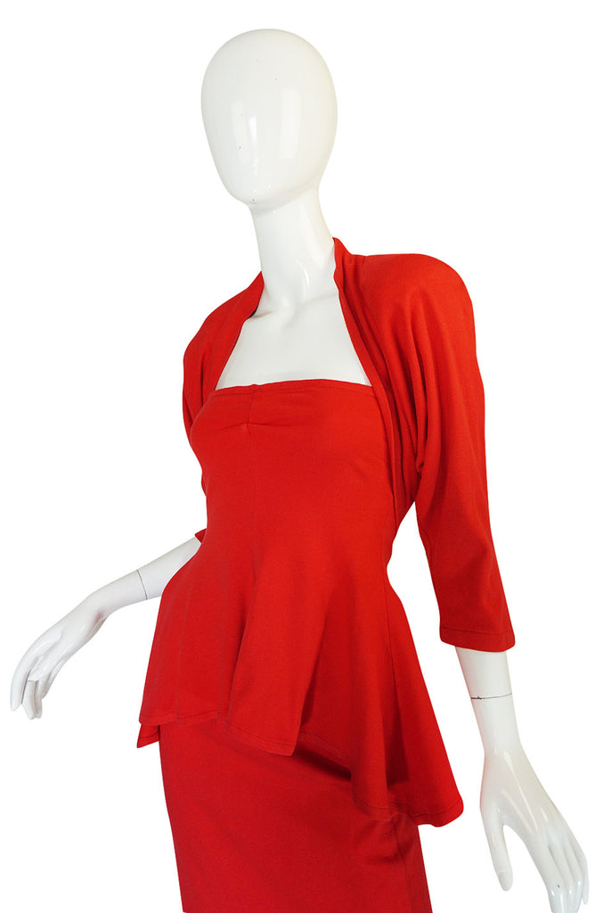 c1978-1980 Early OMO Norma Kamali Dress & Bolero