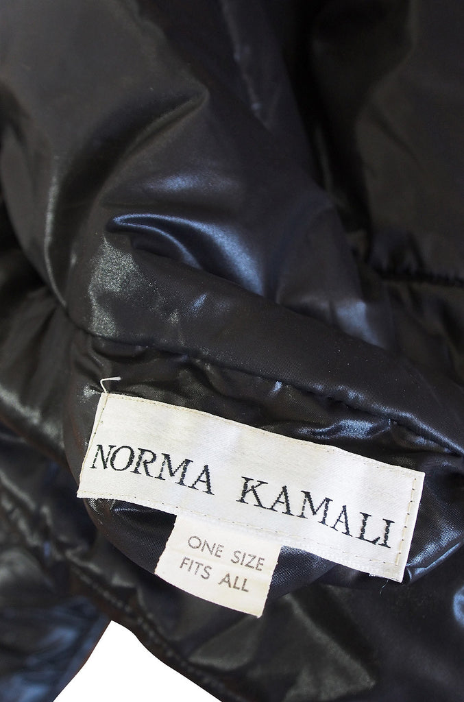 Rare Early 1980s Norma Kamali Sleeping Bag Coat