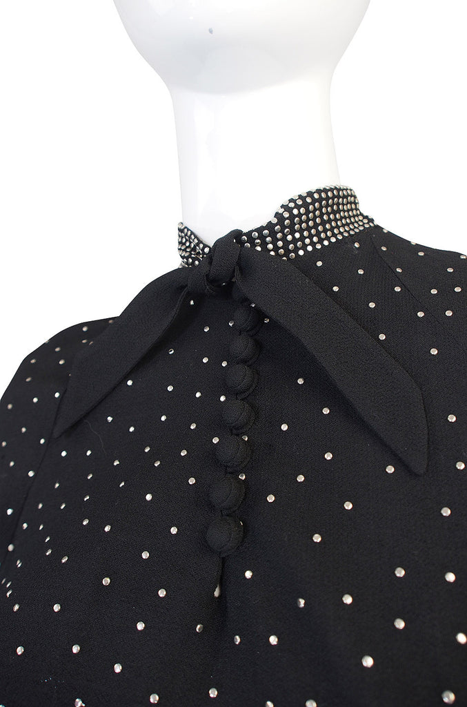 Rare 1940s Eisenberg and Sons Studded Dress