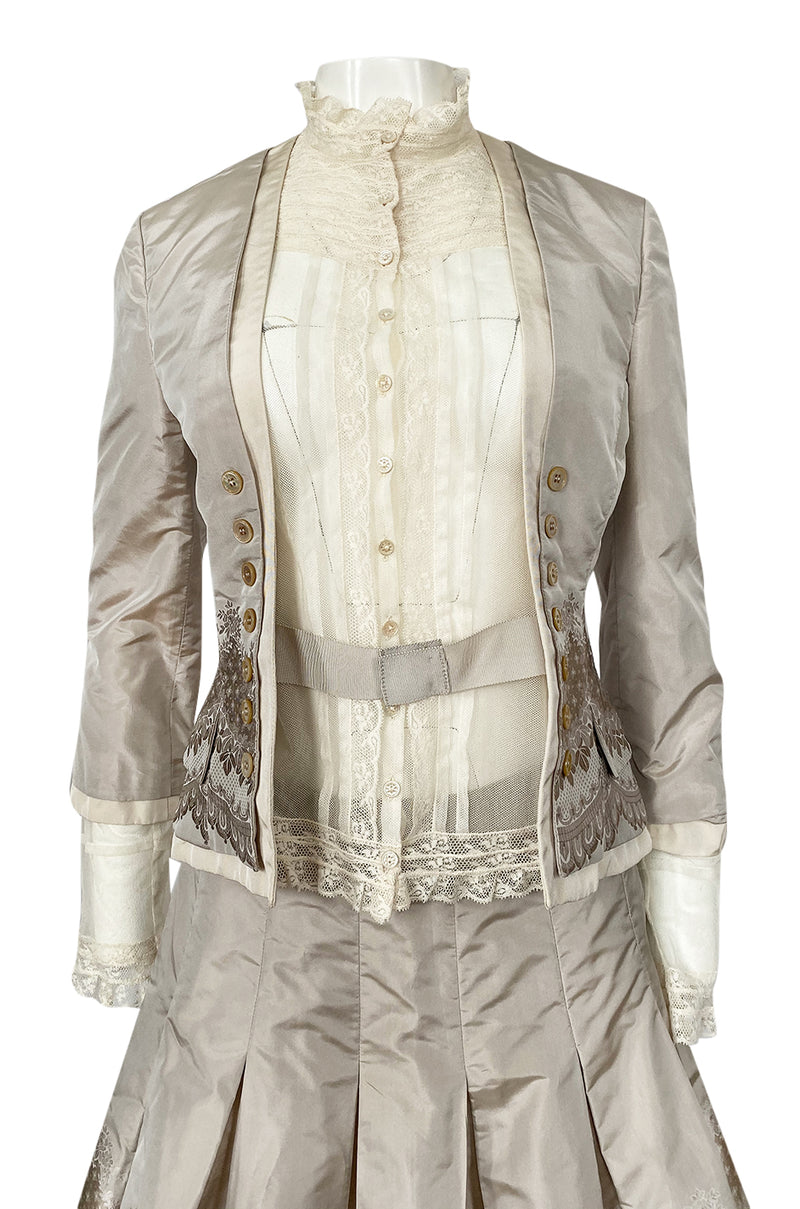 Spring 2005 Alexander McQueen 'It's Only a Game' Runway Skirt & Jacket Set
