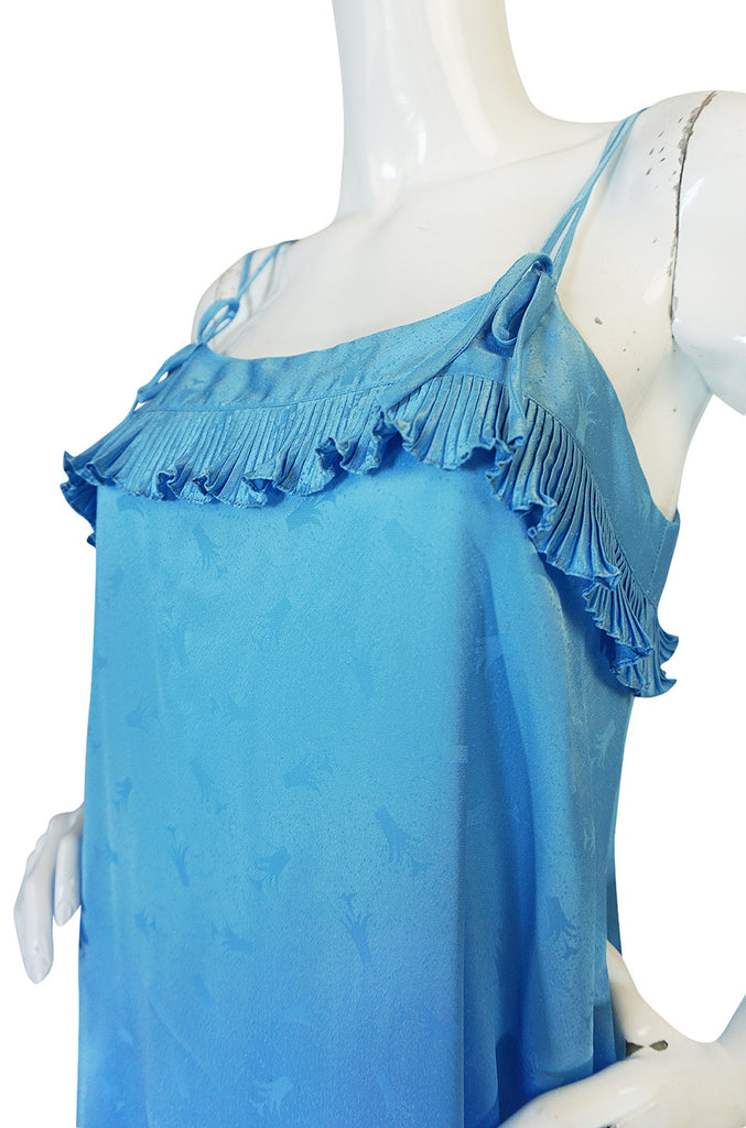 Treasure Item - 1970s Blue Zandra Rhodes Lingerie Dress