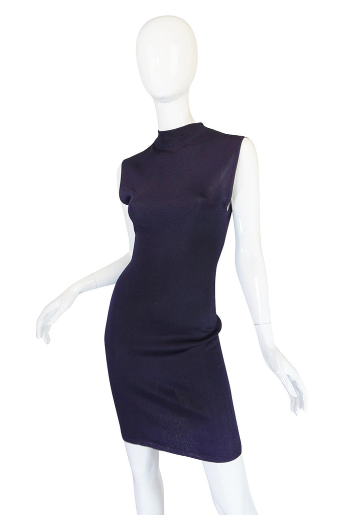 1980s Early Azzedine Alaia Dress & Jacket Purple Set