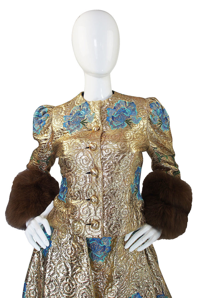 1980s Arnold Scaasi Couture Gown & Sable Jacket