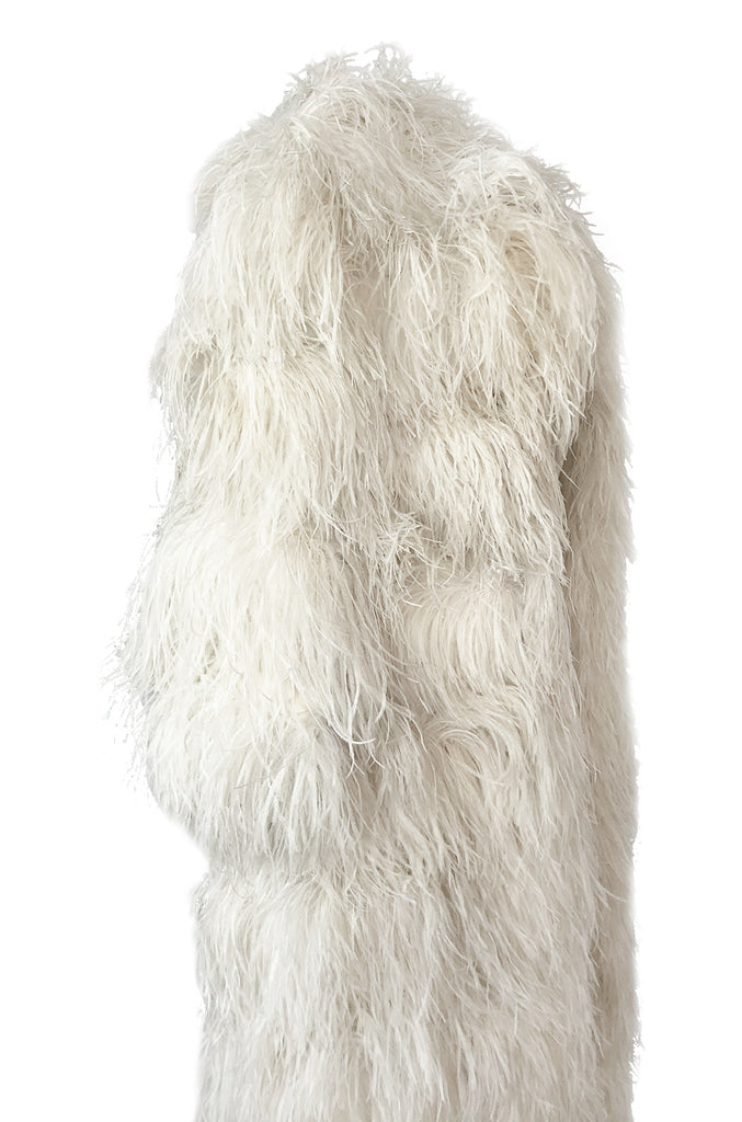 1960s Michael Novarese Ostrich Feather Full Length Maxi Coat