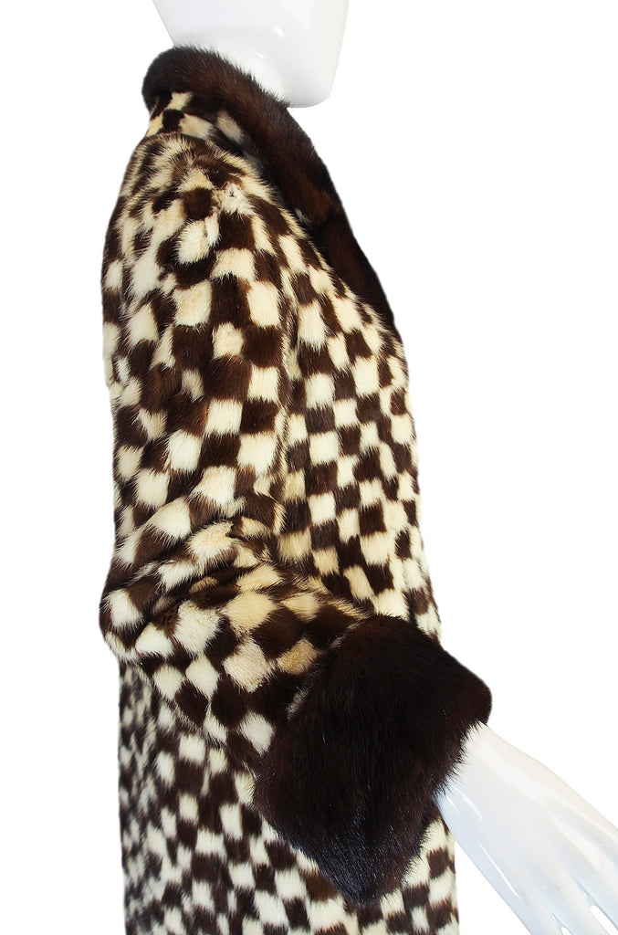 1950s Schiaparelli Incredible Checked Mink Coat