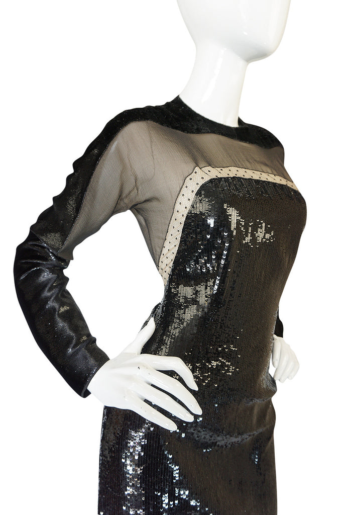 Museum Held Fall 1990-91 Geoffrey Beene Sequin & Lace Dress