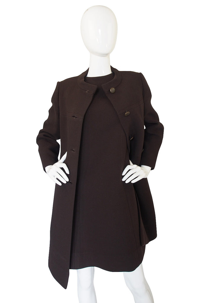 1960s Rare Webe Mod Shift Dress & Coat