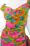 1980s Silk Jacques Molkos Fitted Dress