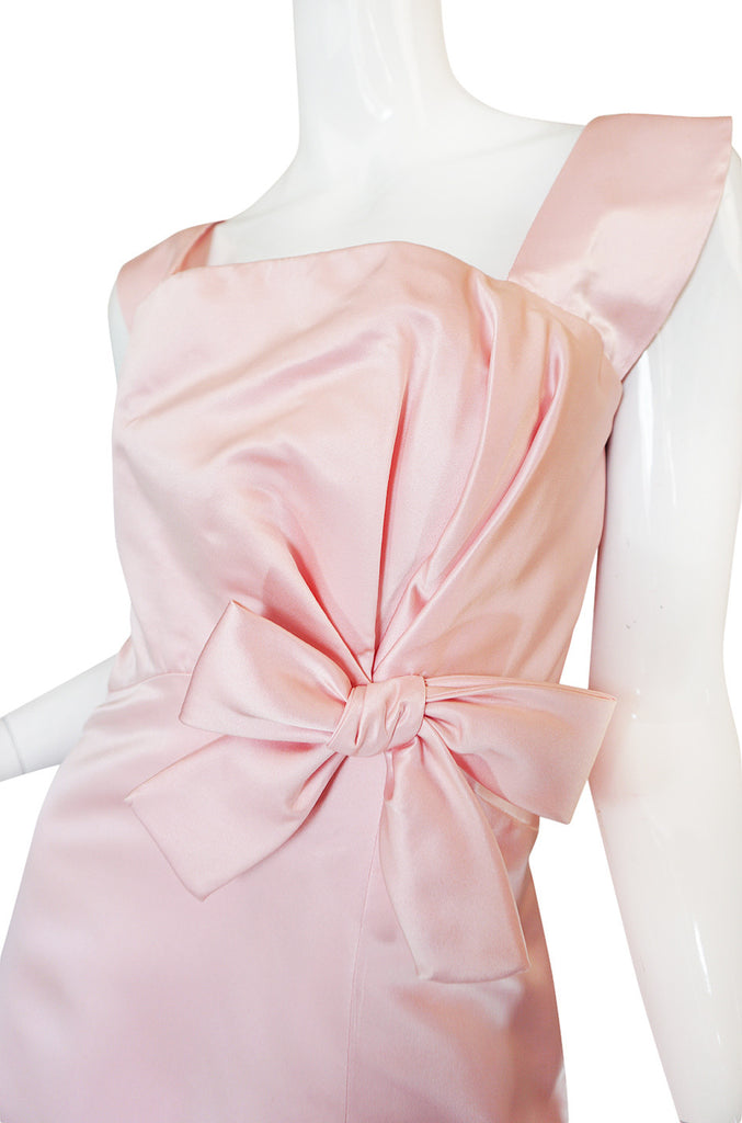 Romantic 1980s Pink Arnold Scaasi Boutique Bow Gown