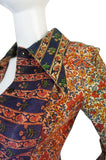 Early & Rare 1970s Roberto Cavalli Leather Print Jacket or Mini