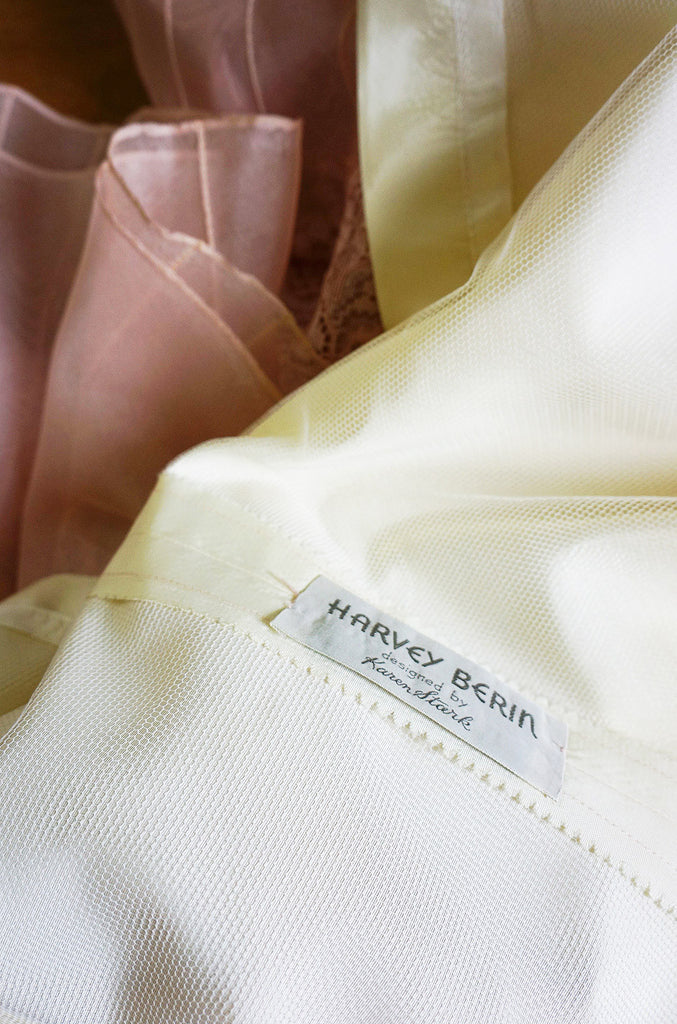1950s Applique Silk Organza Harvey Berin