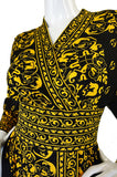 1970s Yellow & Black Maurice Dress