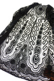 Edwardian Embroidered Black Net Coat