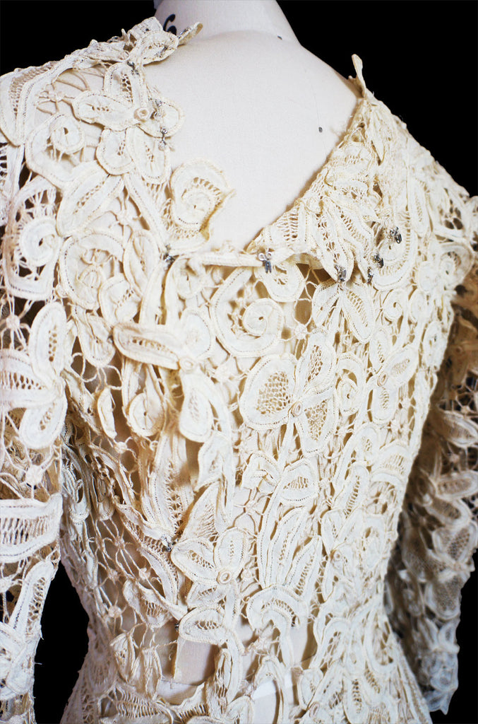 c.1905 Amazing Battenburg Lace Dress