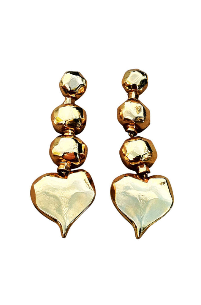 CHRISTIAN LACROIX Gilt Earrings 1990s