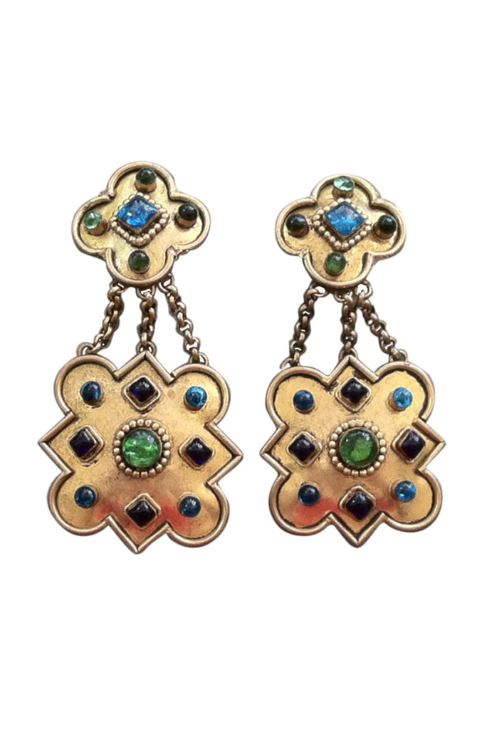ISABEL CANOVAS Jeweled Earrings 1980s