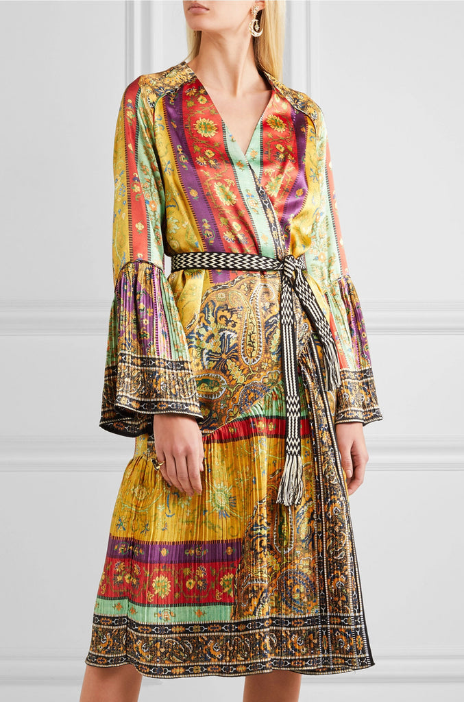 S/S 2017 Etro Look 22 Printed Plisse Washed Silk Jacket or Light Coat