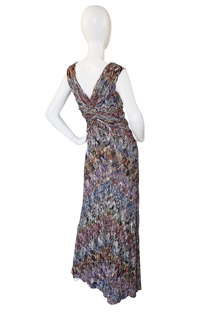 Recent Missoni Multi Color Knit Gown