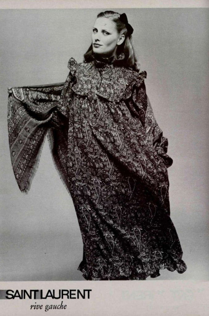 Fall 1977 Ad Campaign Yves Saint Laurent Dress