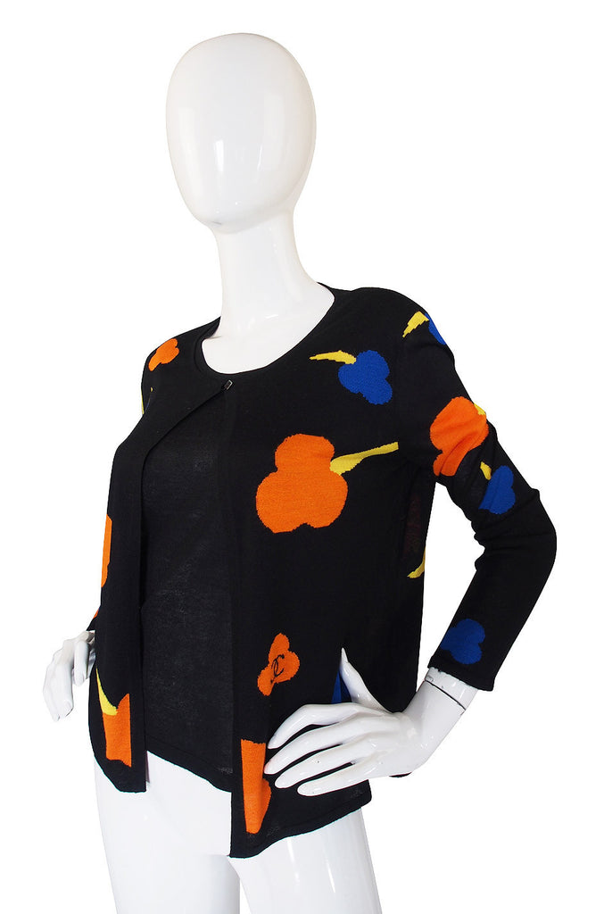 1980s Chanel Flower & Logo Twinset