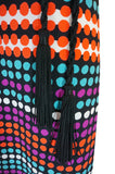 1970s Lanvin Bright Printed Dot & Stripe Jersey Dress