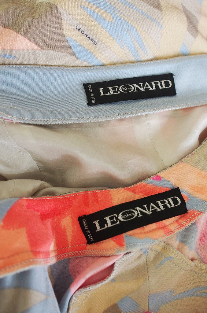 1970s Leonard Pink & Coral Mini & Crop Jacket