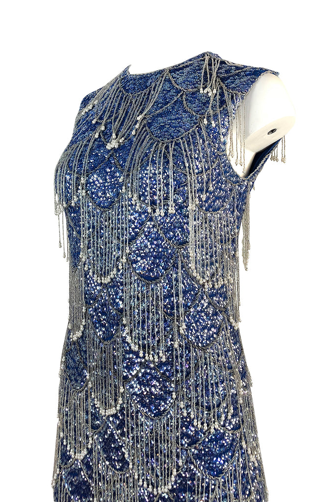 1950s Sorelle Fontana Alta Moda Couture Sequin, Bead  & Pearl Dress